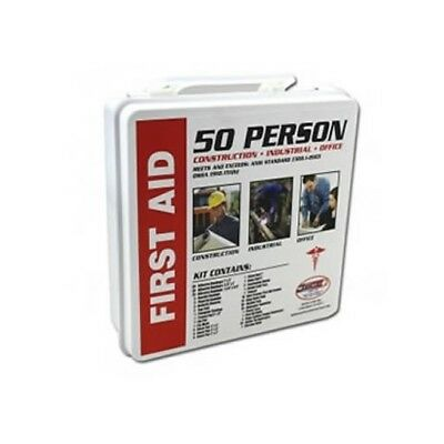 50 Person First Aid Kit 220pc OSHA ANSI Home Office Warehouse Construction
