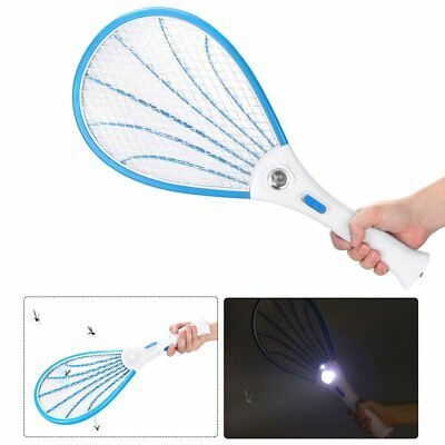 NEW Bug Zapper Fly Rechargeable Mosquito Swatter Racket Electric Insect Killer
