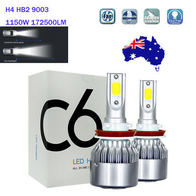 CREE H4 HB2 9003 LED Headlight Kit Light Bulb Hi/Lo 1150W 172500LM 6000K HID BM9