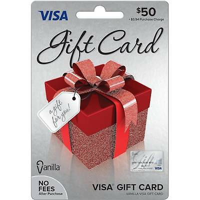 $50 VISA CARD ready to use activated gift no fees FREE SHIPPING