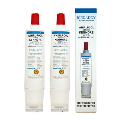 Refrigerator Water Filter 5 Fits Whirlpool 4396508 4396510 EDR5RXD1 ~ 2 Packs