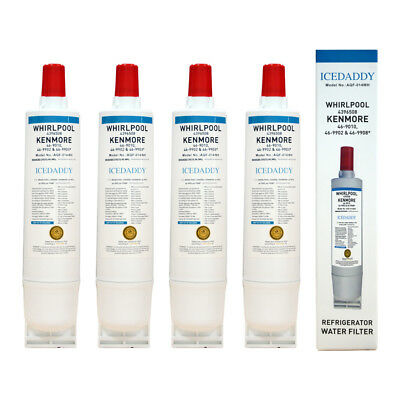Refrigerator Water Filter 5 Fits Whirlpool 4396508 46-9010 EDR5RXD1 - 4 Packs