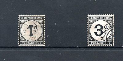 NORTHERN RHODESIA  1938 D1 - D3 Postage Dues used  Cat £30.00