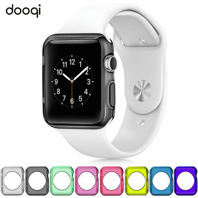 For Apple Watch Series 3 2 38/42mm Silicone TPU Bumper Protective Cover Case