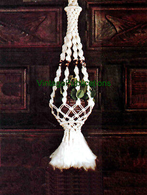 Macrame Plant Hanger PATTERN . Single Plant Hanger . Decorative Macrame . COPY