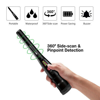 Pinpointer Metal Detector Portable Pin Pointer Treasure Hunting w/LED Flashlight