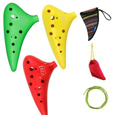 12 Hole Alto C Ocarina Vessel Flute with 2 Protective Bags for Beginners N7Z5