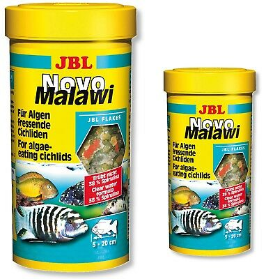 JBL Novo Malawi Cichlid Flakes 250ml 1L Fish Food NovoMalawi Original Tubs