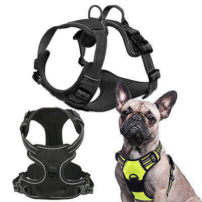 Dog No-Pull Harness Adjustable Outdoor Pet Reflective Walk Control Padded Vest