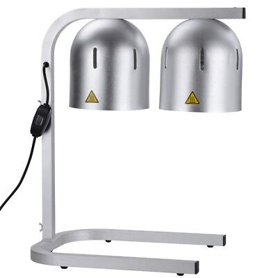 Portable Heat Lamp Food Warmer Two Bulb Commercial Buffet Food Court Restaurant