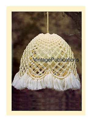 Macrame Lightshade PATTERN .. Macrame Light .. Home Decor .. Decorative Macrame