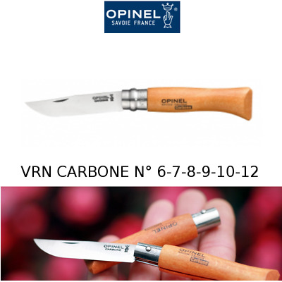 Genuine OPINEL VRN Carbon Steel Blade made in FRANCE Number 6 7 8 9 10 12