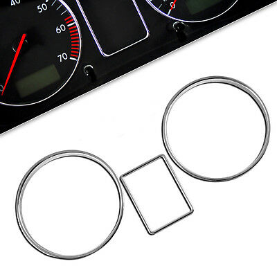 Skoda Octavia MK1 1U Chrome Gauge Cluster Rings Dash Dial Dashboard  RS