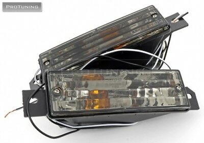 For BMW E30 smoked front indicators turn signal lights side repeater blinker