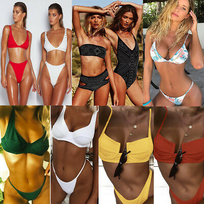 Women Push-Up Bikini Swimwear Bathing Suit Triangle Swimsuit Bandage Beachwear