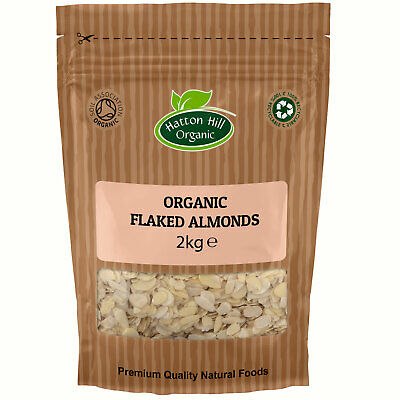 Organic Flaked (Sliced) Almonds 2kg Certified Organic