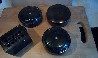 Vintage Bakelite  Job lot of Bakelite junction boxes etc, reclaimed 1950s.