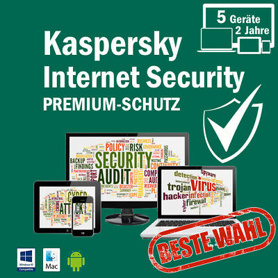 Kaspersky Internet Security 2018 5PC /Geräte 2Jahre Vollversion Key ESD Download