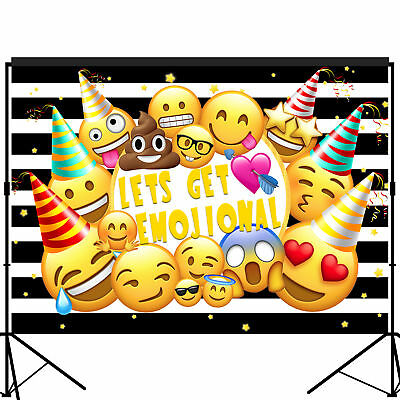 Emoji Tons of Emojions Party Backdrop Photography Background 7x5 feet