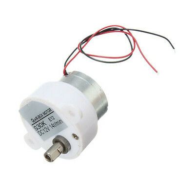 14RPM DC 12V  High Torque 2 Wires Electric Geared Box Reduction Motor UK
