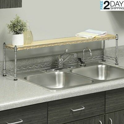 Elevated Over The Sink Shelf Kitchen Bathroom Space Saver