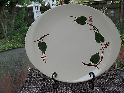 "VINTAGE BLUE RIDGE SOUTHERN POTTERIES ""STANHOME IVY"" PLATTER (13 3/8""x ""11 3/8"")"