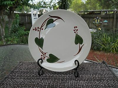 "Set of 4 BLUE RIDGE SOUTHERN POTTERY, 9.5"" Dinner Plates, Stanhome Ivy"