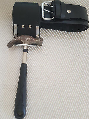 Heavy Duty leather Tool Work Belt & Steel Saddle hammer holder New Best Quality