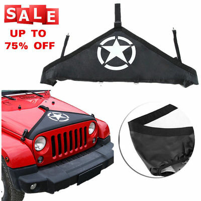 1X Front Hood Protective Bra Cover For 2007-2017 Jeep Wrangler Five stars Style