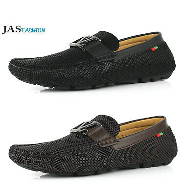 Mens Slip On Loafers Designer Shoes Casual Driving Moccasin JAS Fashion Size UK