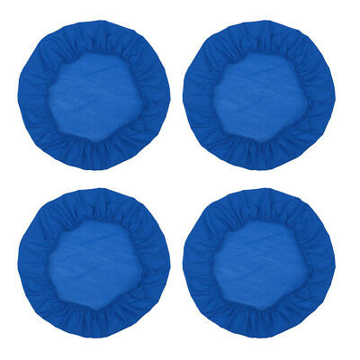 4PCS Universal Stretch Dining Chair Slip Covers Wedding Kitchen Seat Blue