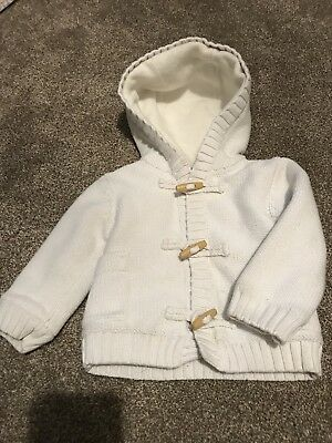 Gap Baby 12-18 Months White Thick Lined Toggle Fastening Jacket