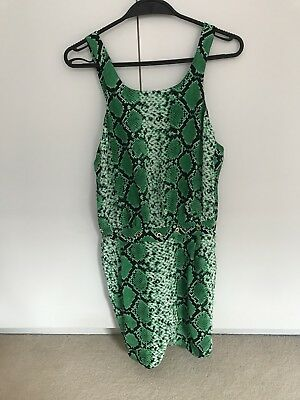 7a563fbad5 SANDRO SILK GREEN jumpsuit France 38  UK 8 UK 10 -  130.80