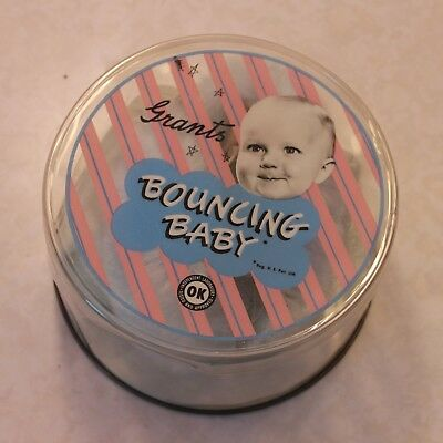 Grant's Bouncing Baby - vintage baby shoes - blue muff