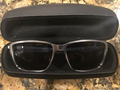 9c85bf471ca New In Box Oakley Tincan Carbon Sunglasses Satin Chrome Grey Oo6017-01  Authentic