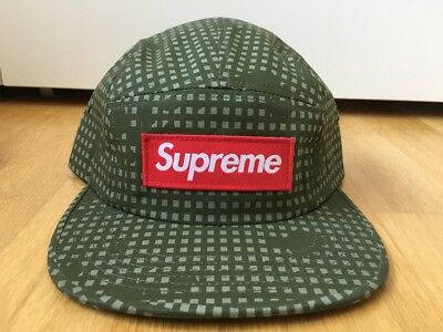 Neu Supreme New York Grid Camo Camp Cap Hat 5 Panel Palace
