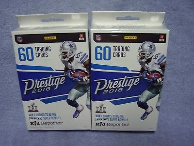Lot Of Two(2) Brand New 2016 Panini Prestige NFL Football Retail Hanger Boxes!