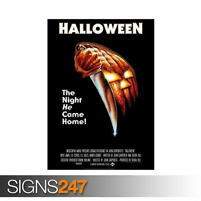 HALLOWEEN CLASSIC MOVIE 1978 (ZZ021)  MOVIE POSTER - Poster Print Art A1 A2 A3