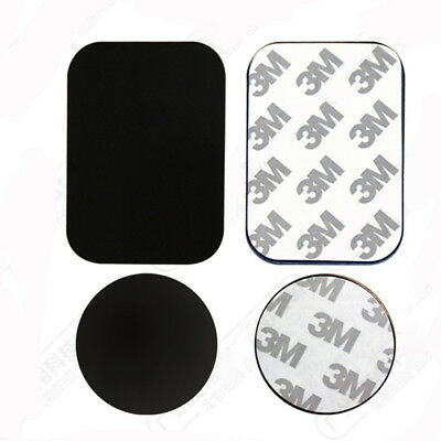 4pcs/Set Metal Plates Adhesive Sticker Replace For Magnetic Car Phone Holder New
