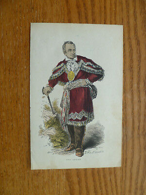 Seneca Indian Chief Red Jacket-1860s Engraving-New York-Hand Colored