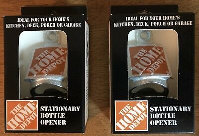 2x STARR — THE HOME DEPOT Stationary Wall Mount Bottle Openers Aluminum Orange