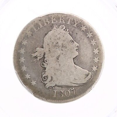 1807 Draped Bust 25C PCGS Certified G06 Good Graded Early US Mint Silver Quarter