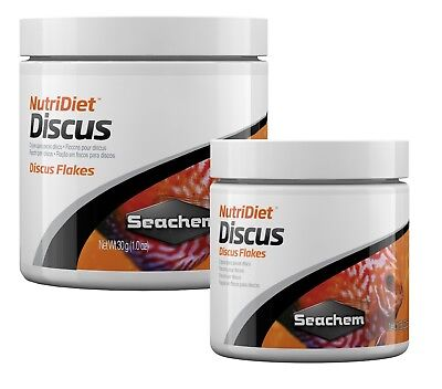 Seachem DISCUS Flakes 15g 30g Nutri Diet Complete Fish Food With Garlic Guard