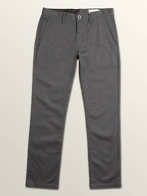 Volcom Stone Frickin Modern Stretch Straight Leg Chino Black Pants $55