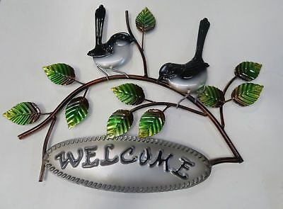 Decorative Willy Wag tails welcome  garden sign  Wallhanger Metal Wall Art