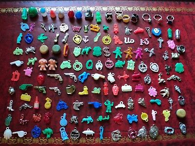 vintage cracker jack gumball charms toy assortment 148 in lot