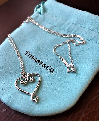 Tiffany & Co Paloma Picasso Sterling Silver Venezia Goldoni Heart Necklace