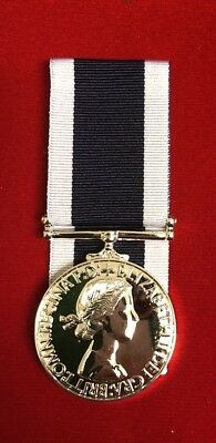 Royal Navy Long Service&Good Conduct LSGC Medal EIIR Full Size Superb Replica
