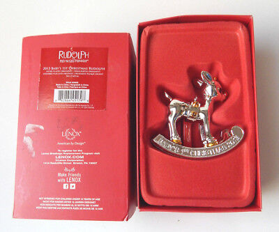 2013 Baby's 1st Christmas Rudolph Red Nosed Reindeer by Lenox NEW