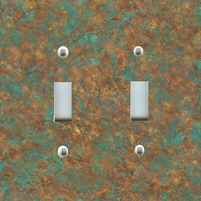 Light Switch Plate Cover RUSTIC HOME DECOR WEATHERED COPPER BRONZE PATINA 02